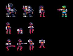 A pilot, and her mech, and a ducky foe #pico8