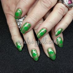 First set of #stpatricksday nails for 2015! #greennails #nailsalon #detroitnails #nailsbyjill  #nailsinthed #nailpromagazine #lovemyjob #nailart #nailartmakesmesweat #iamaprofessional #prettynails #hotnails  #miraclemanicure #gelnails #designermani #nailswag #nailedit #nailstagram #instanails #nailartist  #nails