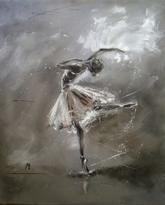 "ARTFINDER: "" BALLERINA  "" by Monika Luniak - OIL ON CANVAS signed with a certificate of authenticity.  I use a knife palette, original, oil on canvas and heavily textured. 50x60cm, ready to hang, pict..."