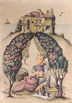 Просмотреть иллюстрацию Пикник из сообщества русскоязычных художников автора Оля Гребенник (Greol) в стилях: Другое, нарисованная техниками: Графика.
