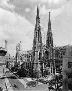 Saint Patrick's Cathedral, 14 East 51st Street, NYC as seen in 1946.