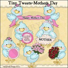 Tiny Tweets Mother's Day 1 - Clip Art by Cheryl Seslar : Digi Web Studio, Clip Art, Printable Crafts & Digital Scrapbooking!