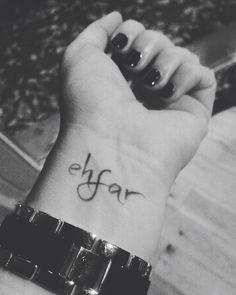 Ehfar temporary tattoo, love it, selfmade :-)