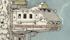 Star Wars Vehicles as Buses and Taxis by Mattias Adolfsson