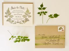 DIY Tutorial: Botanical + Watercolor Save the Dates | Design : Bailey and Emma of Antiquaria | Photography by Jamie Simon of Intertwyned