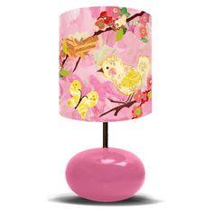 Cherry Blossom Birdies Pink Lamp from PoshTots