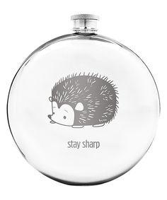 Loving this 'Stay Sharp' Hedgehog Round Flask on #zulily! #zulilyfinds