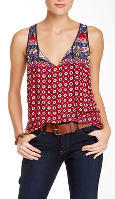 fun tank top - awesome under a sweater, too! (Lucky Brand)