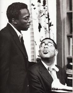 Miles Davis and Dizzy Gillespie, Paris, 1958.