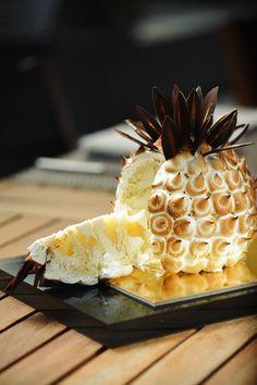Entremets ananas meringué