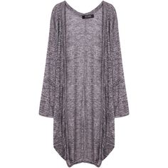 Yoins Bat Sleeve Draped Cardigan (140 HRK) ❤ liked on Polyvore featuring tops, cardigans, jackets, outerwear, sweaters, grey, drape top, grey draped cardigan, batwing sleeve cardigan and grey top