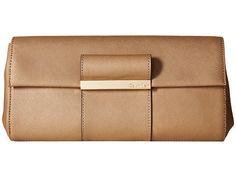 Calvin Klein Evening Saffiano Leather Clutch