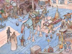 Star Wars concept art by Moebius