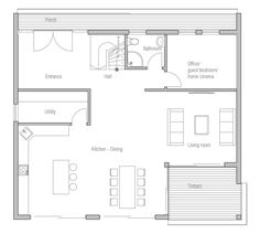 Small House Plan CH207