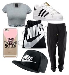 """❄"" by kiiit-thy on Polyvore featuring NIKE, adidas and Casetify"