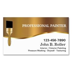Painter Business Cards. I love this design! It is available for customization or ready to buy as is. All you need is to add your business info to this template then place the order. It will ship within 24 hours. Just click the image to make your own!