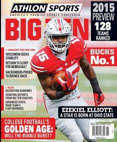 ATHLON SPORTS 2015 B1G FOOTBALL PREVIEW COVER EZEKIEL ELLIOTT #15 RUNNING BACK.