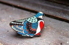 Bleeding Heart Pigeon Enamel Pin