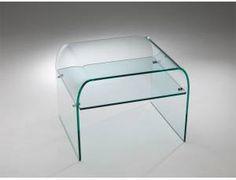 Tunnel Due tavolino vetro curvato - Composizione di due tavolini a ...