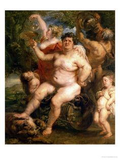 Bacchus. Rubens. 1638-1640. Oil on canvas, transferred from panel. 191 x 161 cm. The Hermitage. St Petersburg.