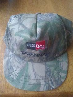 d316ea36201fe Vintage NOS REALTREE UNION CAMP SAVANNAH Snapback Hat Cap USA MADE Americap  Snapback Hats