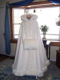 FULL LENGTH TRAILING WITH FUR WINTER WEDDING DRESS - Google Search