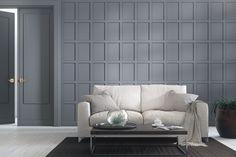 Panel Herrgård är en stilren panel som kan användas som traditionell bröstpanel men även för fondväggar, sänggavlar osv. Färdigmålad, med dolda skarvar. Finns i vit och grå. Interiörpanel, väggpanel, helpanel. Spegelpanel Fence Screening, Bauhaus, Dining Room, Couch, Bedroom, Inspiration, Furniture, Design, Home Decor