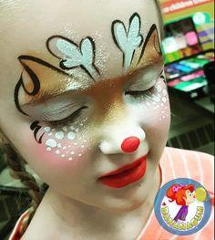 Reindeer Face Paint, Face Painting Unicorn, Christmas Face Painting, Face Painting Designs, Henna Art, Creative Makeup, Painting For Kids, Halloween Kids, Face Art