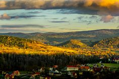 Sunrise light - Taken just after sunrise in polish Beskidy mountains. Fantastic autumn colors and weather.