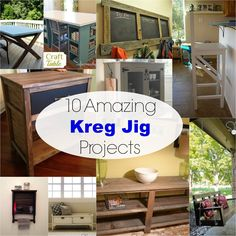 10 Amazing Kreg Jig Projects - My Own Home Kreg Jig Projects, Easy Woodworking Projects, Woodworking Jigs, Diy Wood Projects, Carpentry, Wood Crafts, Building Furniture, Diy Furniture Plans, Furniture Projects