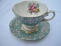 Lots and lots of pretty tea cups and tea pots.  I like the old fashioned floral ones best!