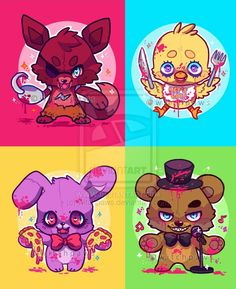 Five nights at Freddy's! They're so cute!