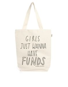 Talented Totes - Sally Beerworth - Girls Just Wanna Have Funds - Fourre-tout, Asos.