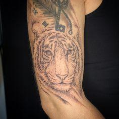 #tiger #tigertattoo #dotwork #dotworktattoo #tattoo #tattooartist #tattoostudio #inked #ink Tiger Tattoo, Tattoo Studio, Dot Work, Tattoos, Tatuajes, Japanese Tattoos, Tattoo, Tattoo Illustration, A Tattoo