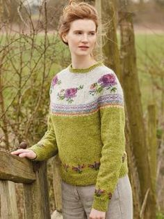 Blossom Knitting pattern by Marie Wallin Fair Isle Knitting, Knitting Socks, Hand Knitting, Knitting Needles, Knitting Designs, Knitting Patterns, Punto Fair Isle, Rowan Felted Tweed, Rowan Yarn