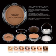 Compact Powder  Pressed powder perfectly fixes the foundation, evens out the skin tone and ensures an impeccable appearance all day long. The formula based on olive oil, jojoba oil and minerals guarantees the appropriate skin moisture levels, care, protection and a velvety finish of the make-up.