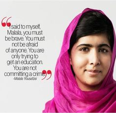 Quotes From I Am Malala Custom Malala Quote  Readers And Teachers And Books Oh My  Pinterest