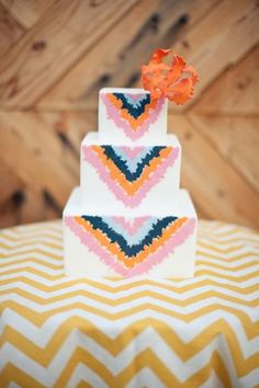 Sweet & Saucy cake design via Neon Indian / Wedding Style Inspiration / LANE (PS follow us on instagram: the_lane)