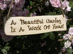 natural woodland wood gardeners sign by seagirl and magpie | notonthehighstreet.com
