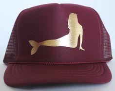 Maroon Mermaid Hat on ETSY www.mermaidsoulwahine.etsy.com