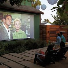 Backyard Kids Movie Night Outside With Movie Projector I M Doing This During Summer