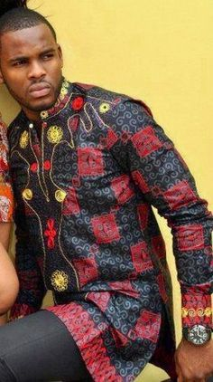 African style African Inspired Fashion, African Men Fashion, Africa Fashion, Mens Fashion, Ankara Fashion, African Attire, African Wear, African Dress, African Style