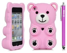 iSee Case (TM) 3D Cartoon Bear Silicone Full Cover Case for iPod Touch 4 iTouch 4+free iSeeCase Stylus (it4-Polar Bear Light Pink+Stylus) by iSee Case, http://www.amazon.com/dp/B00ARQMBYA/ref=cm_sw_r_pi_dp_O07Qrb1GW99T5