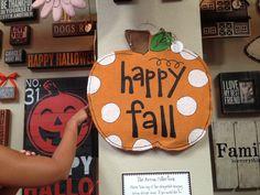 Fall burlap door hanger!