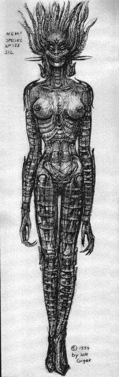 Hans Rüdi Giger: Drawing for Sil Metamorphosis of Sil's Face