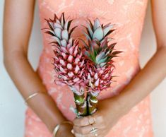 Whether you're hosting a beach destination wedding or looking to add some tropical flair, check out these pineapple decor ideas for your big event.