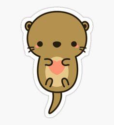 Cute Otter Sticker