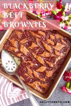 These chocolate-y gooey rich brownies have a secret ingredient: beets! Blackberry Beet Brownies are a new family favorite. Unique Recipes, Great Recipes, Amazing Recipes, Seedless Blackberry Jam, Beet Brownies, Hidden Vegetables, Fruit Puree, Unsweetened Chocolate, Brownie Recipes