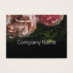 Delicate Pink Roses Business Card - rose style gifts diy customize special roses flowers