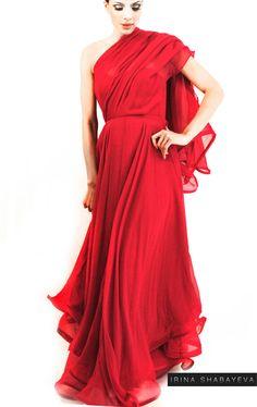 Irina Shabayeva Signature Chiffon Gown with by IrinaShabayeva, $2295.00